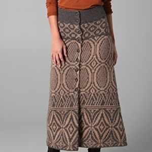 Basotho Sweaterknit Rosel Skirt (Anthropologie)